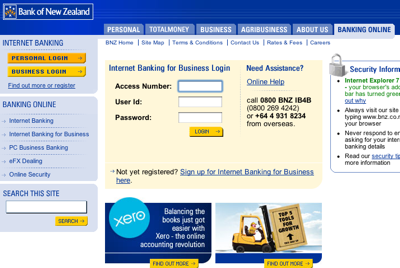 BNZ Internet Banking for Business