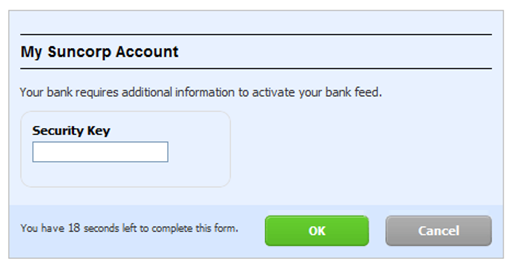 Authenticate bank feed