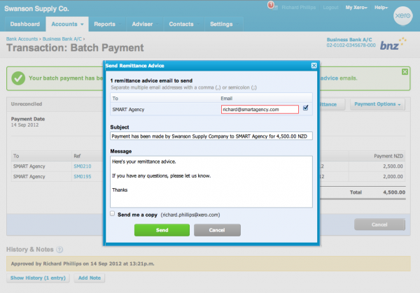 Remittance advice and tracking on budgets - Xero Blog