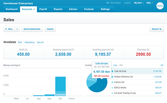 Xero Sales Dashboard