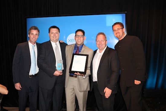 Xero presents Chaney & Associates with an award