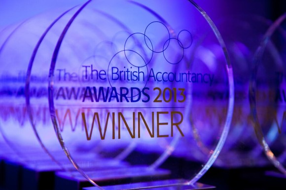 British Accountancy Awards trophy