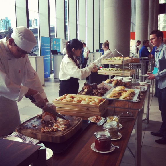 Carving station at Xerocon