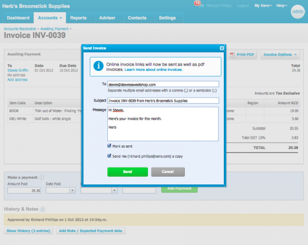 Online Invoicing Your Customers Perspective Xero Blog - What to say when sending an invoice via email
