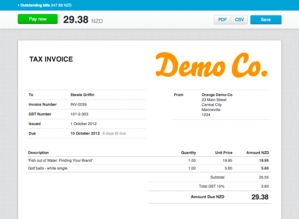 online invoicing – your customer's perspective - xero blog, Invoice templates