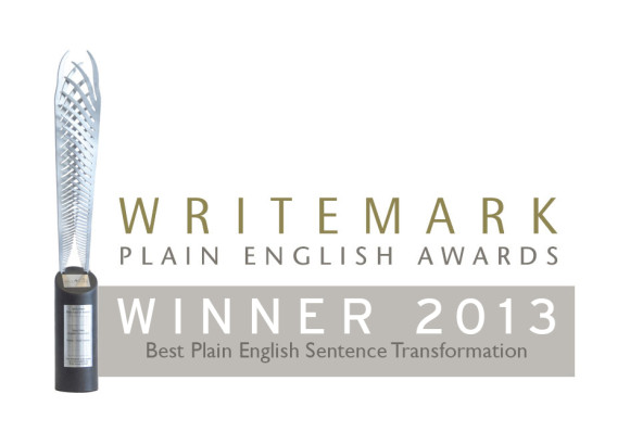 2013 Winner Plain English Awards Sentence Transformation