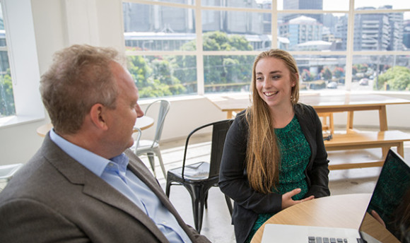 Young entrepreneur Alice meets Xero CEO Rod Drury