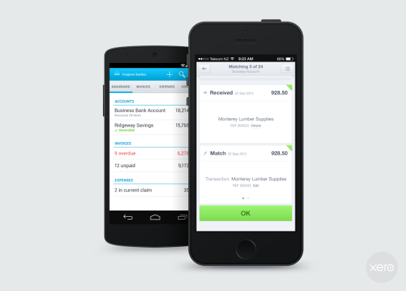 Xero Files using Xero Touch for iOS