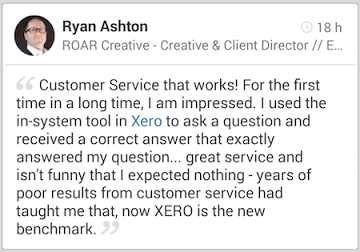 Ryan Ashton loves Xero support