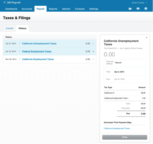 US Payroll Taxes and Filings in Xero