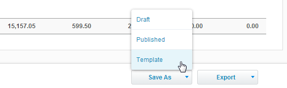 Saving drafts, publishing and templates