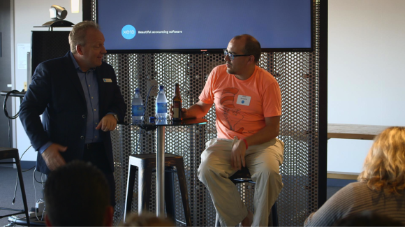 Rod Drury of Xero and Dave McClure of 500 Startups