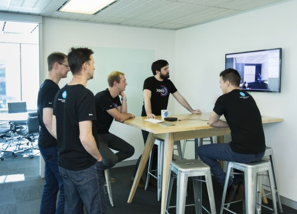 Xero staff meet in the new Canberra office