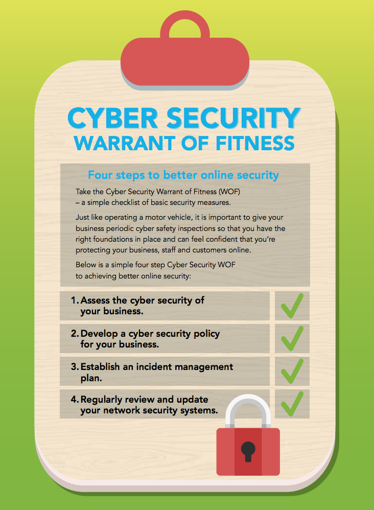 Connect Smart cyber security warrant of fitness