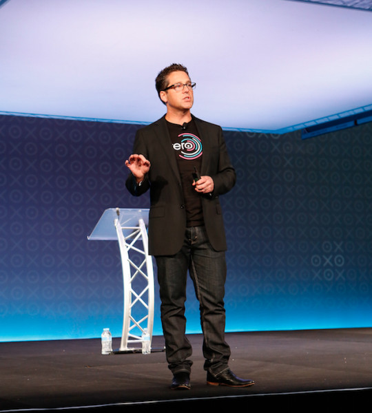 Chris Ridd on stage at Xerocon Australia 2014