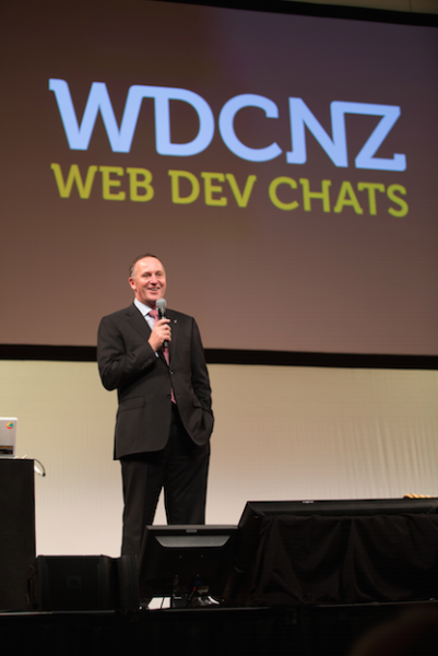 NZ Prime Minister John Key at WDCNZ