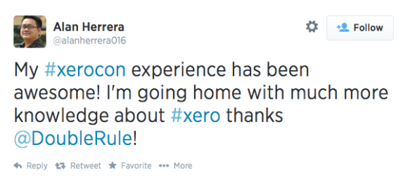 @alanherrera016 brags about Xerocon to the Twitterverse
