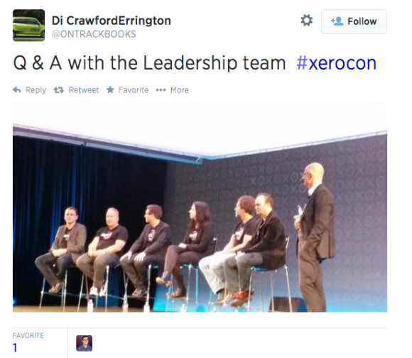 @ONTRACKBOOKS posts a photo from Xerocon in Syndey to Twitter