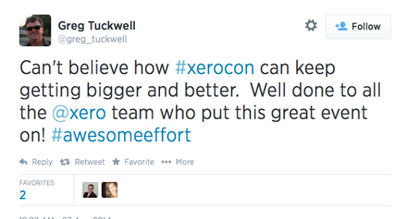 @greg_tuckwell is another Xerocon tweeter