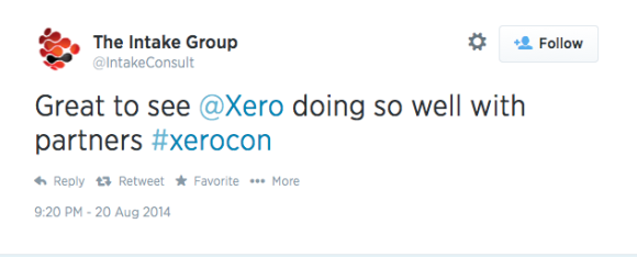 Xerocon tweet from @IntakeConsult