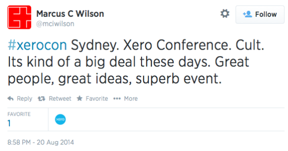 @mciwilson tweets about Xerocon in Sydney