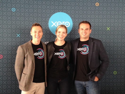 Christian Newman, Bailey Brooks and Ben Richmond at the Xero Roadshow NZ