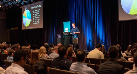Clinton from TradiePad speaks at Xero October roadshow