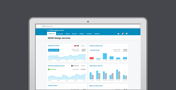 Fresh new look for the Xero Dashboard