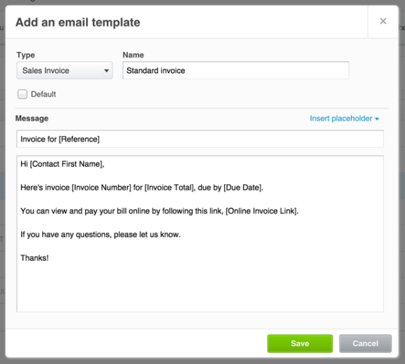 Email templates let you put emails together quickly