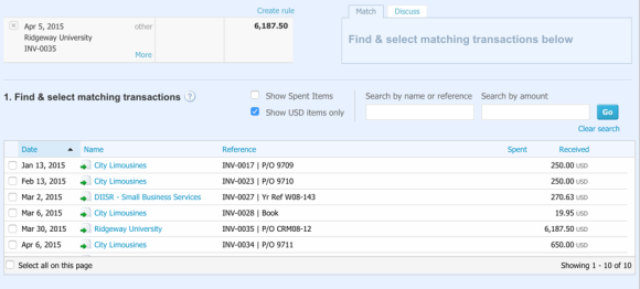 This Xero release sees a fresh new look for Find & Match