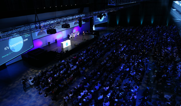 Xerocon Auckland 2015 stage and crowd