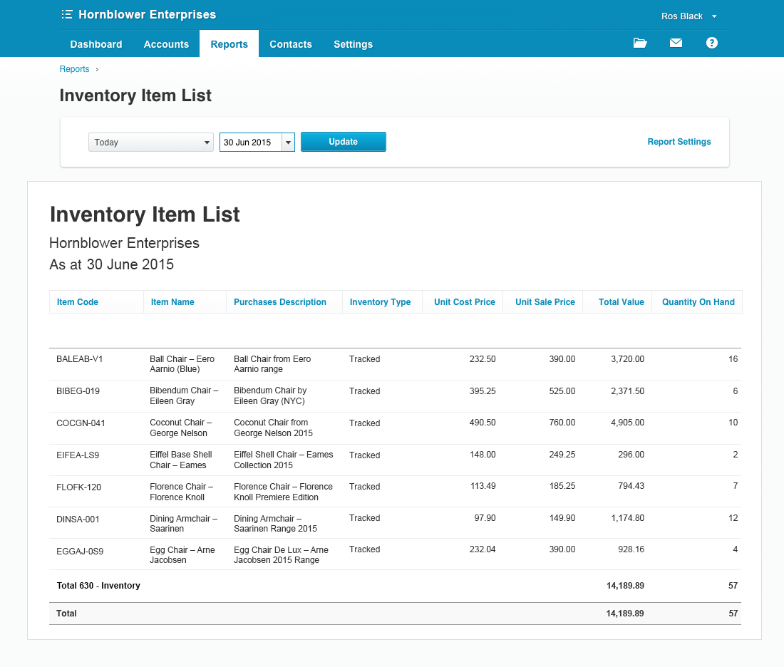 inventory-xero-new-report