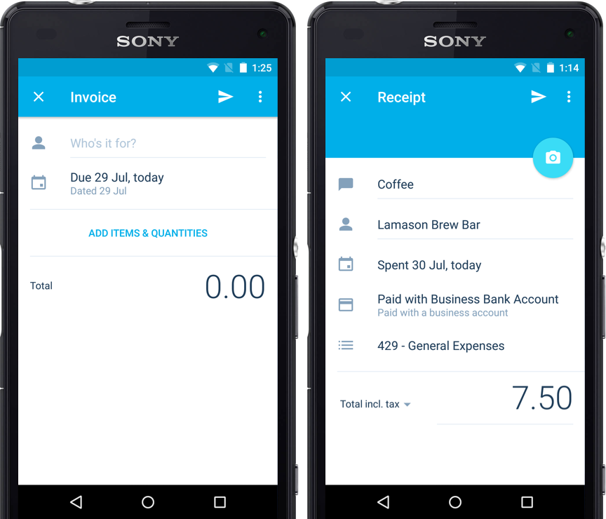 The New Look Xero Android App Xero Blog - Invoice to go app android