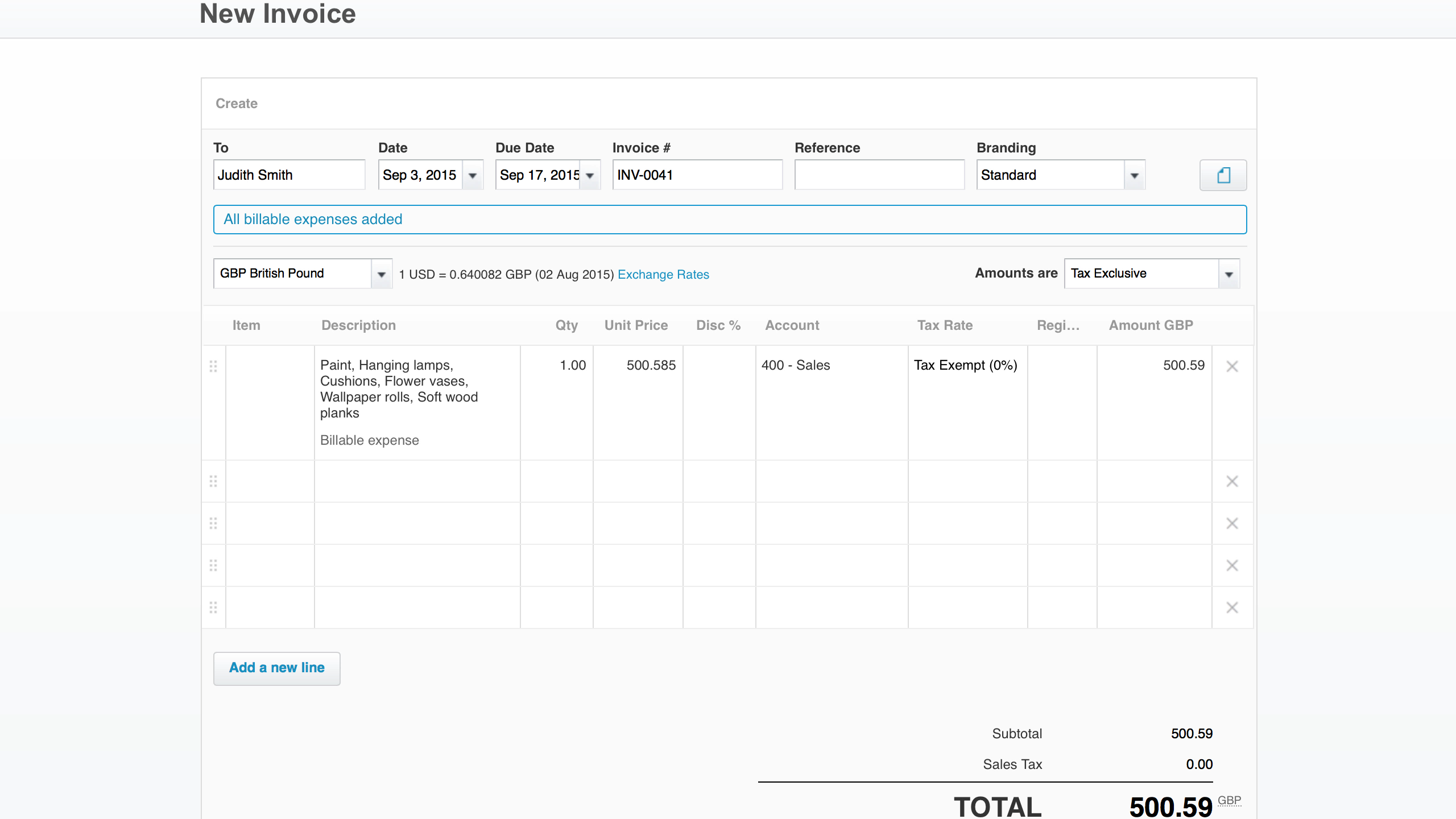 Billable Expenses Show On Invoice  Make My Own Invoice