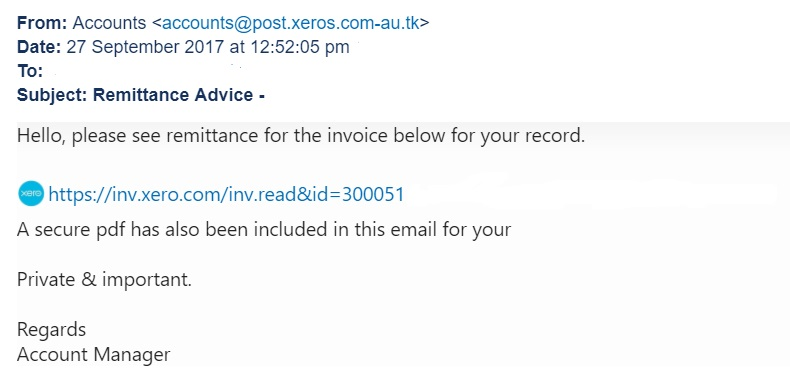 Vendor Invoice In Sap Word Security Noticeboard  Xero Blog Eac Receipt Number with Toshiba Receipt Printer Pdf If You Have Received This Email You Should Report It As Phishing And  Delete It Do Not Click On Any Links Or Attachments The Link In This  Phishing Email  What Does Pay On Receipt Mean