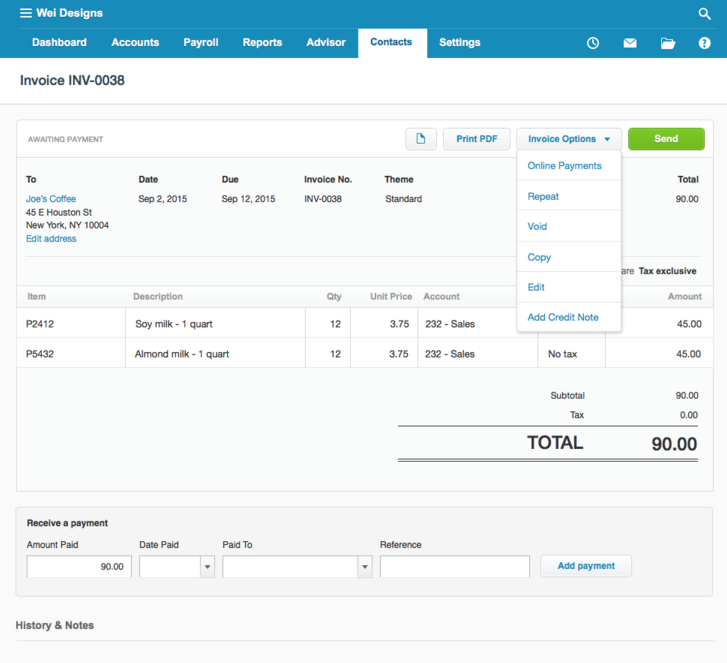 Xero And Stripe Help Get You Paid Faster Xero Blog - Stripe create invoice for service business