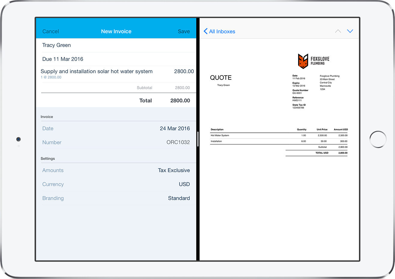 ipad split screen with xero