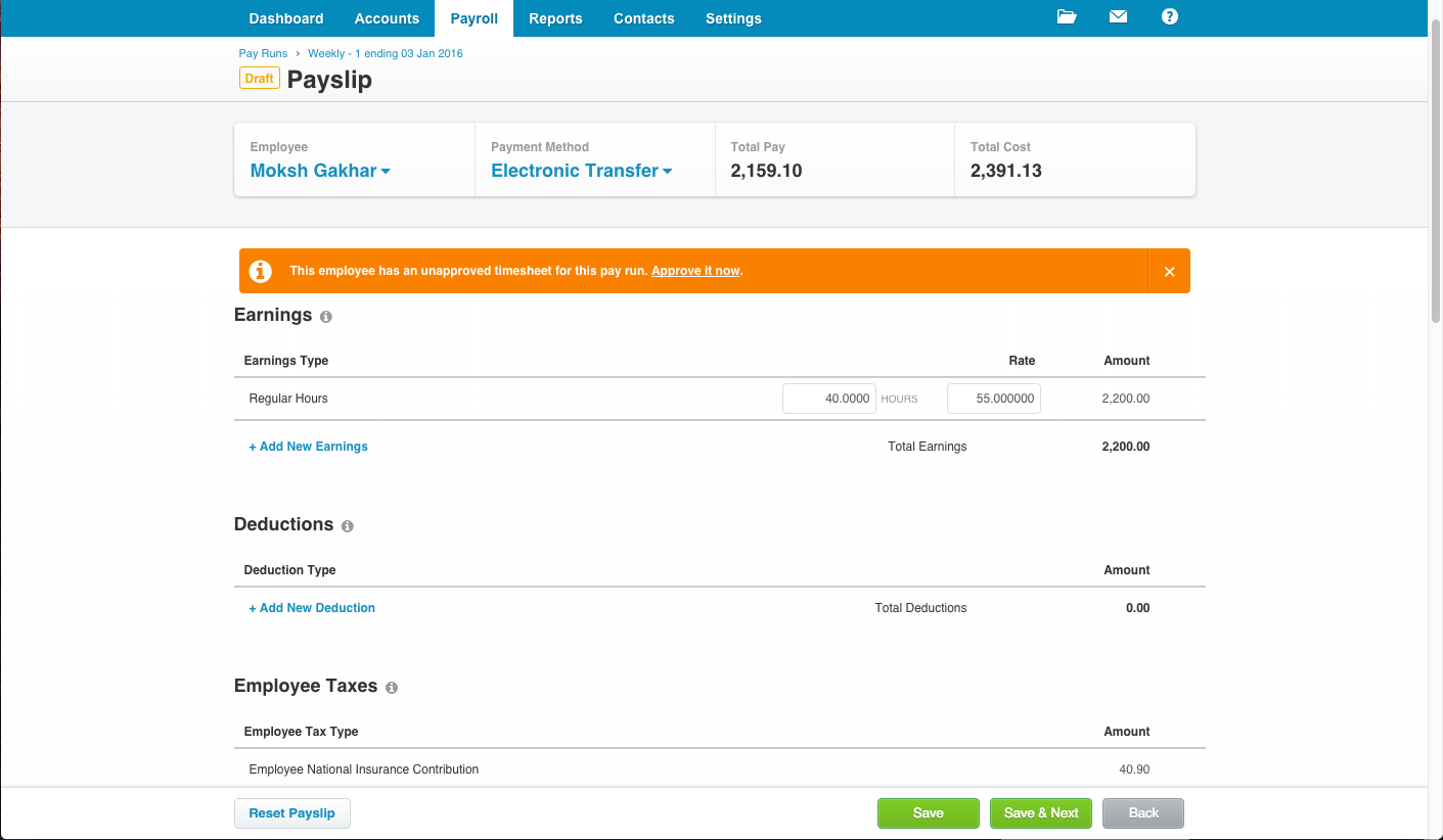 Timesheets For Employees Added To Payroll Uk Nz Xero Blog