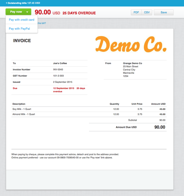 Xero And Stripe Help Get You Paid Faster Xero Blog - Online invoice services