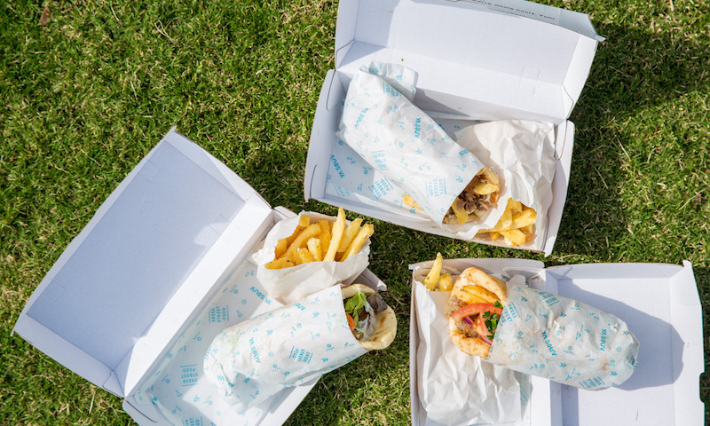 Souvlaki and chips in Melbourne