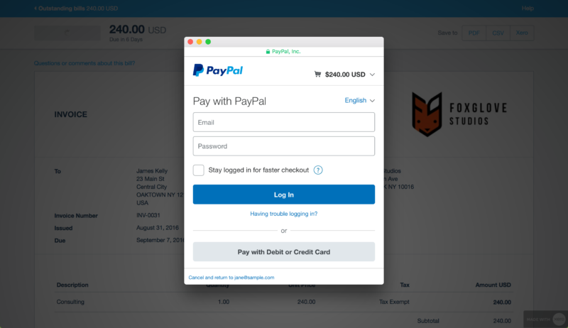 paypal online invoicing