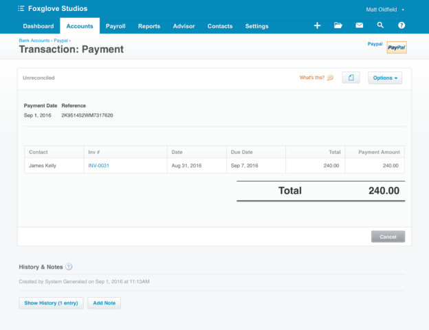 Improved PayPal integration with fees support | Xero Blog