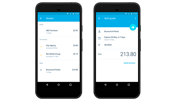 Quotes Are Now Mobile Xero Blog - How to make an invoice on iphone