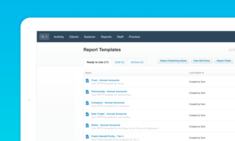 Report templates: Now available in Xero HQ - Xero Blog