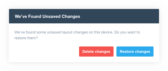 unsaved changes dialog report templates