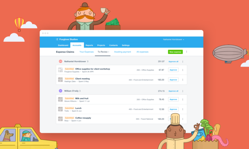 Say Hello To The New Xero Expenses Xero Blog