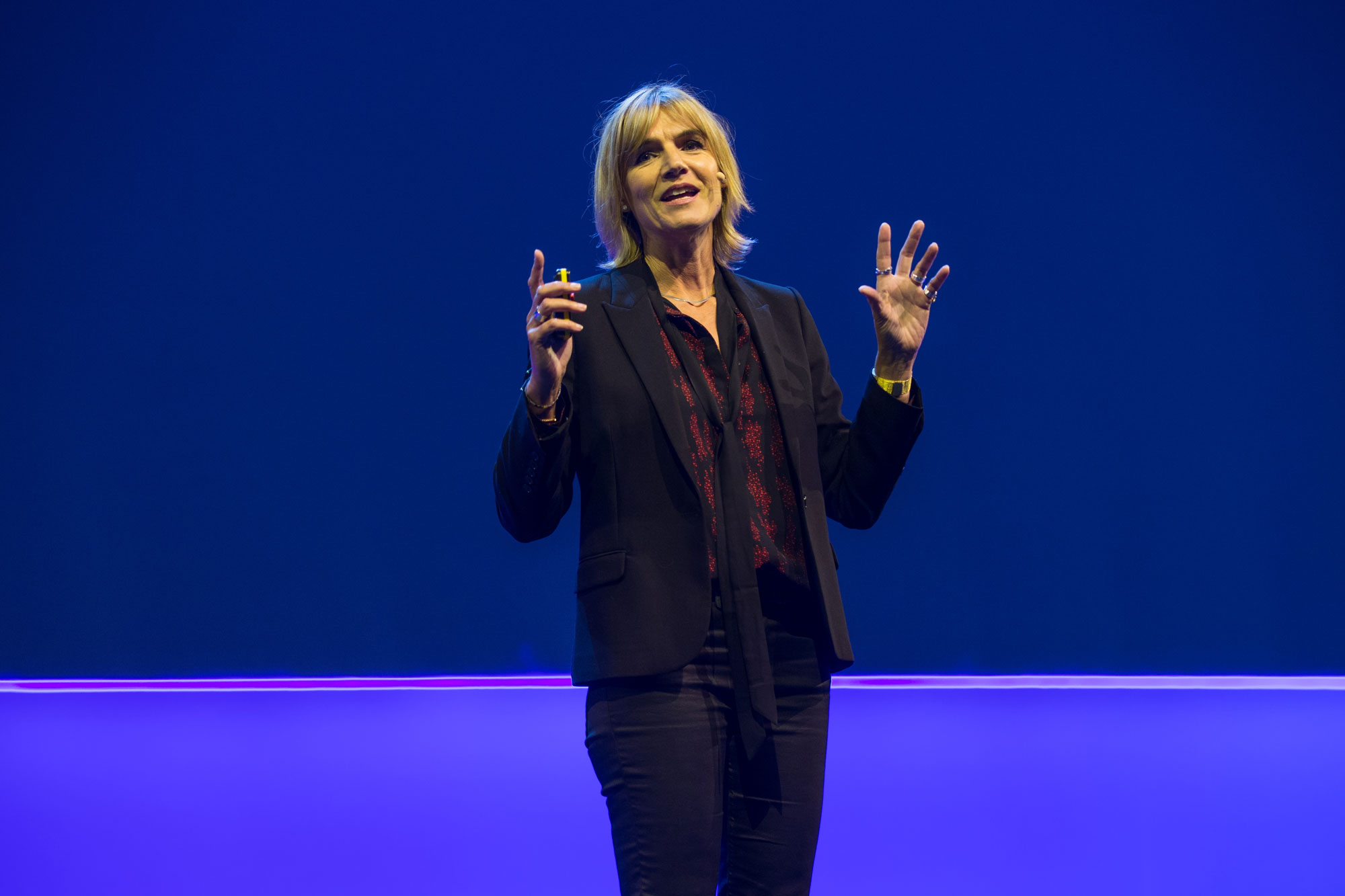 Lucy Adams, CEO Disruptive HR, on stage at Xerocon London 2018