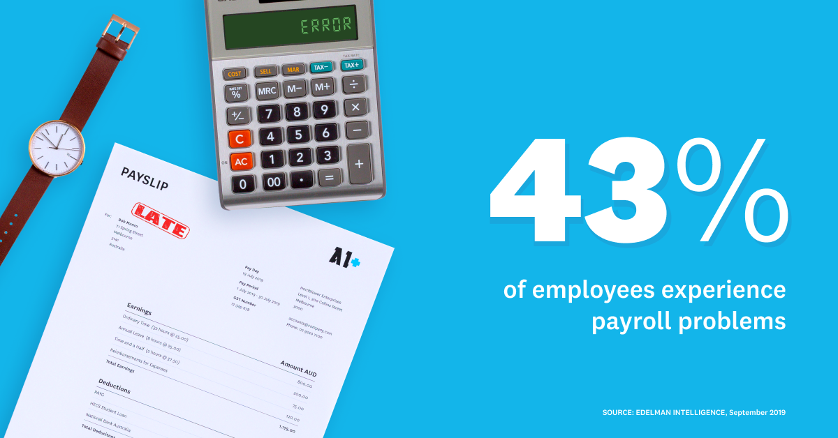New research: close to half of small business employees have experienced pay-day problems