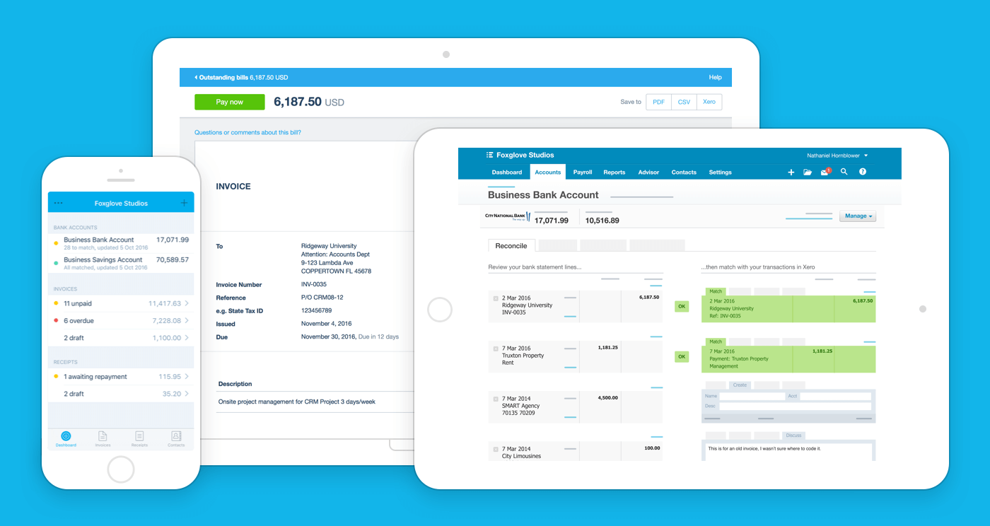 Accounting Software Online Bookkeeping Xero US - What is the best invoice app for ipad for service business