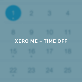 xero me - time off